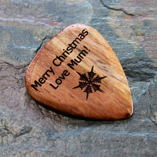 Personalised Almond Wood Guitar Pick